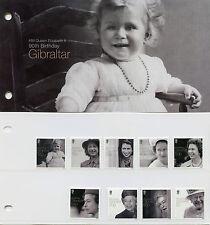 Gibraltar 2016 MNH Queen Elizabeth II 90th Birthday 10v Set 2x Pres Pack Stamps