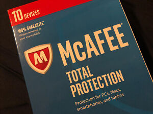 McAfee 2017 Total Protection 10 Devices (PC Software), New