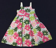NWT GYMBOREE Spring Social Floral Cotton Pink Daisy Bow Dress Girls 5