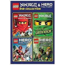 LEGO: Ninjago and Hero Factory Collection (DVD, 2014, 4-Disc Set)