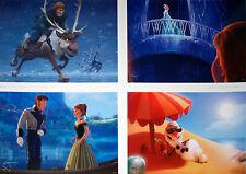 "4 Disney Store Lithographs FROZEN 2014 10""x14"" Lithos: Anna, Elsa, Olaf, Sven +"