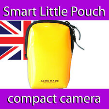 ACME MADE SMART LITTLE POUCH VIVID GLOSS YELLOW NEOPRENE  CAMERA IPOD PHONE