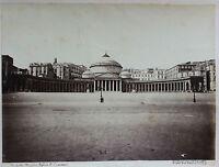 Napoli Basilique San Francesco Di Paola Italia Foto Vintage Albumina c1880