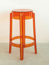 Kartell Charles Ghost 4898 orange Höhe 65cm Barhocker