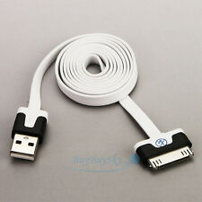 White Mix-Black USB Sync Data Charging 1M ChargerCord Cable for iPad/iPod/iPhone