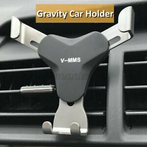 Universal Gravity Aluminum Car Air Vent Mobile Phone GPS Holder Mount Stand   C