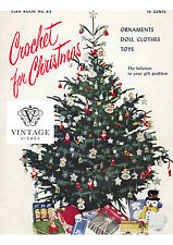 Vintage Christmas crochet patterns-16 page booklet-Xmas tree decorations etc