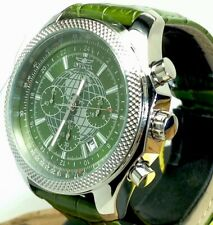 INVICTA 18436 TRITNITE CHRONOGRAPH MENS WATCH WITH GREEN GLOBE DIAL & DATE (E34)