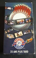 Baseball 1993 Expos de Montreal VHS Tapes 25 ans plus tard 1969/1993 Rare video