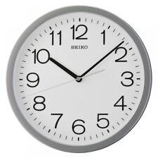 Seiko QXA693N Round Wall Clock With Grey Case