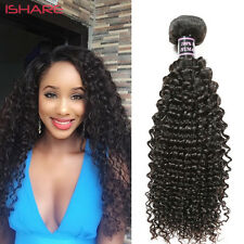 Afro kinky Curly Virgin Real Human Hair Weave Weft Extension Black Unprocessed