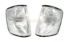 Fit USA Mercedes Benz W201 84-93 190E 190D Clear Corner Lights One Pair