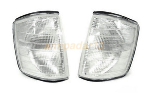 Fit USA Mercedes Benz W201 84-93 190E 190D Clear Corner Lights One Pair