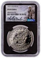 1972-S Silver Eisenhower Dollar $1 NGC PF69 Cameo Blk Core Charlie Duke SKU55322