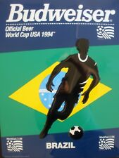 VERY RARE BRAZIL 1994 VINTAGE ORIGINAL WORLD CUP SOCCER TIN BUDWEISER DISPLAY