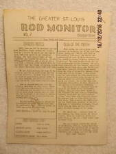 1959 Great St. Louis Rod Monitor Newspaper NHRA W/Nomads Auto Club Evansville IN