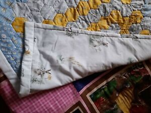 Hand sewn baby patchwork quilt