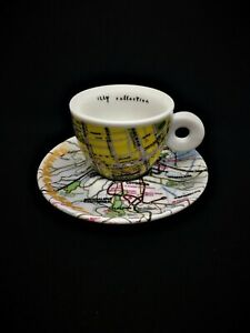 illy Art Collection Espresso cup ROBERT RAUSCHENBERG 1998 signed and numbered