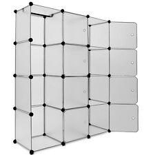 Étagères Armoire Penderie Rangement Plastique 12 Casiers 1 Tringle Système Clip