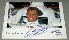 Original British Johnny Herbert Formula 1 Driver Signed Racing Photo