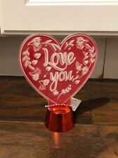 Red & Pink- Lighted Love You Display - 5in