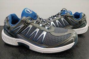 Men's Orthofeet Biofit 672 Diabetic Orthopedic Shoes Gray Blue Size 9.5 Wide 2E