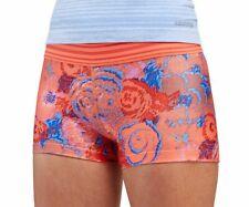 Saucony Women's Run-Dry Rock It Tight Running Jogging Shorts~Orange/Blue XL $38