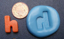 """Reusable Letter """"H"""" Silicone Food Safe Mould, Mold, Sugarcraft, Jewellery, Cake"""