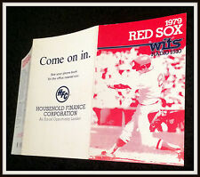 1979 BOSTON RED SOX HOUSEOLD FINANCE CORP BASEBALL POCKET SCHEDULE FREE SHIPPING
