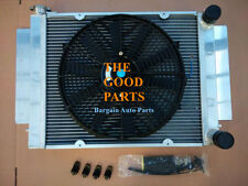 3 Row Race Alloy Radiator&Fan Mazda RX2 RX3 RX4 RX5 RX7 without Heater Pipe MT
