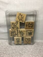 "(BR) Stampin Up ""Sketch An Event"" Rubber Stamp Set of 8; Free US Shipping"
