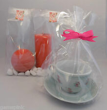 "50 x Clear Cellophane Gift Party Display Bags with gusset 12"" (tall) x 7""x 4.75"""