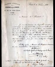 PARIS (X°) CHAMBRE SYNDICALE de la CERAMIQUE & de la VERRERIE en 1898