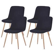 4xModern Velvet Backrest Dining Chair Wood Legs Kitchen Dinette Room Wooden Legs