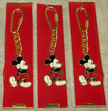 Disney Mickey Mouse Enamel Pendants w/ Chain New, Never Used ( 3 ) Total