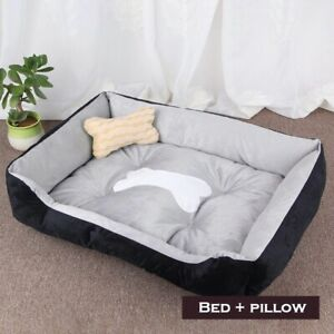 Bed Dog Pet Soft Warm Cat Mat Puppy Large Kennel Calming Sleeping Washable Nest