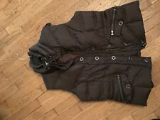 Timeless quality New York classics ladies dark brown Quilted feather vest