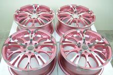 16 pink Wheels Accord Miata Cooper G3 G5 XB iQ Prius C Cobalt 4x100 4x114.3 Rims