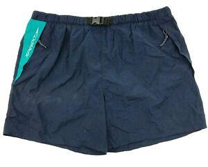 VINTAGE Speedo Swim Trunks Men's Size XXL 2XL Blue Logo Mesh Lined NYLON Pockets