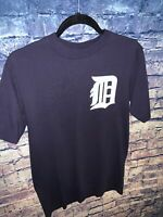 Detroit Tigers MLB Justin Verlander Navy blue Majestic Men's Size Medium T-shirt