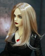 "1/4 bjd 7-8"" doll head beige blonde wig dollfie Luts Iplehouse minifee JD078M"