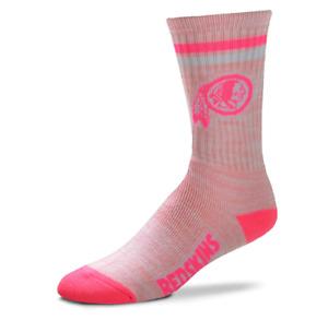 Women's Washington Redskins Pretty In Pink Crew Socks