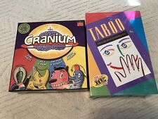 Cranium and Taboo Board Awesome Game Lot Sealed never opened or played with