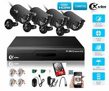 XVIM 4CH 1080N Home Security Camera System Outdoor Video Monitoring CCTV Kit 1TB