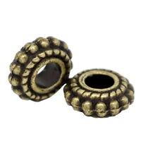 100 Neu Bronzefarben Spacer Perlen Zwischenteil 8x3mm hello-jewelry