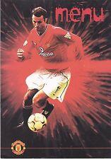 Manchester United V Aston Villa 20 GENNAIO 2001 EUROPA Suite Match Day menu