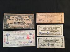 Philippines Commonwealth Paper Centavos Money Set  5 pcs Series 1942-1943 -1944