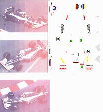 Decals 1/43e Vitesse Brabham Yamaha BT60Y Brundle - Blundell F1 1991