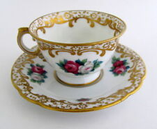 Vintage Hand Painted Rosenthal Bavaria Demitasse Roses Cup and Saucer