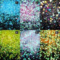 Holographic Nail Glitter Sequins Iridescent Flakes Paillette  DIY Decor